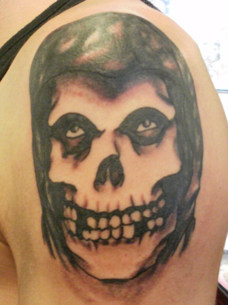 Misfits skull tattoo by ckirkillustr8 on DeviantArt Misfits Skull Tattoo