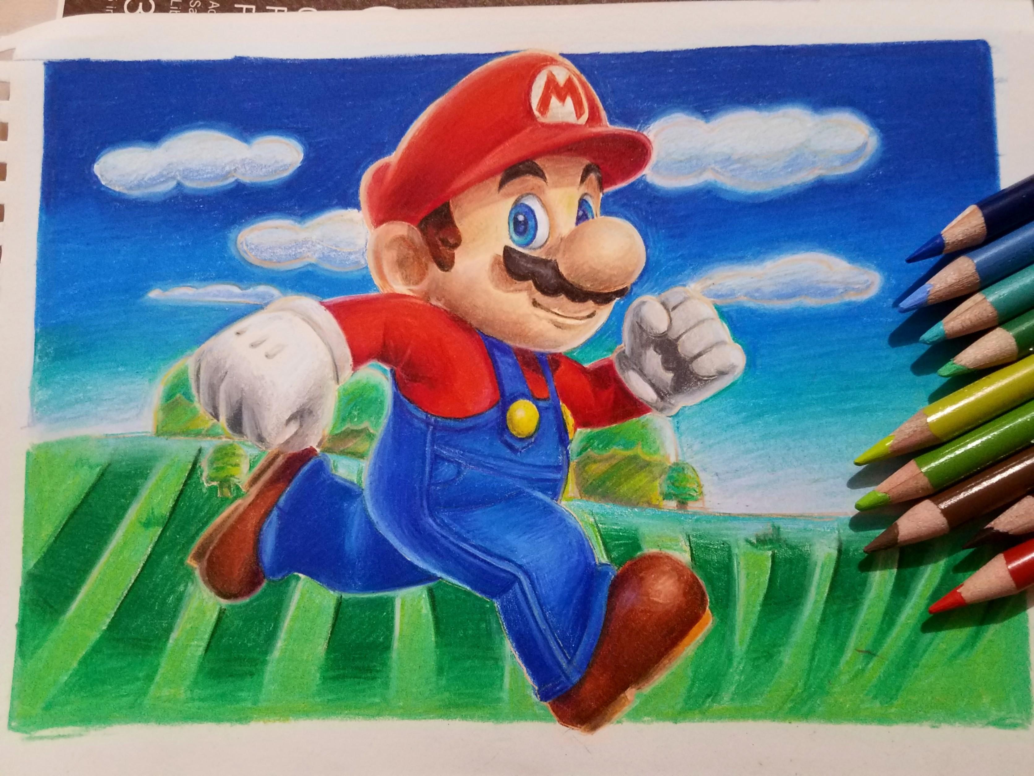 Mario Pencil Drawing By Creatiivetrash On Deviantart