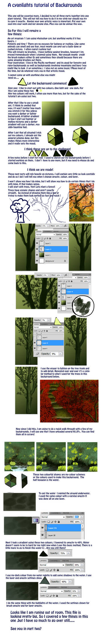 Tutorial of backgrounds part 2