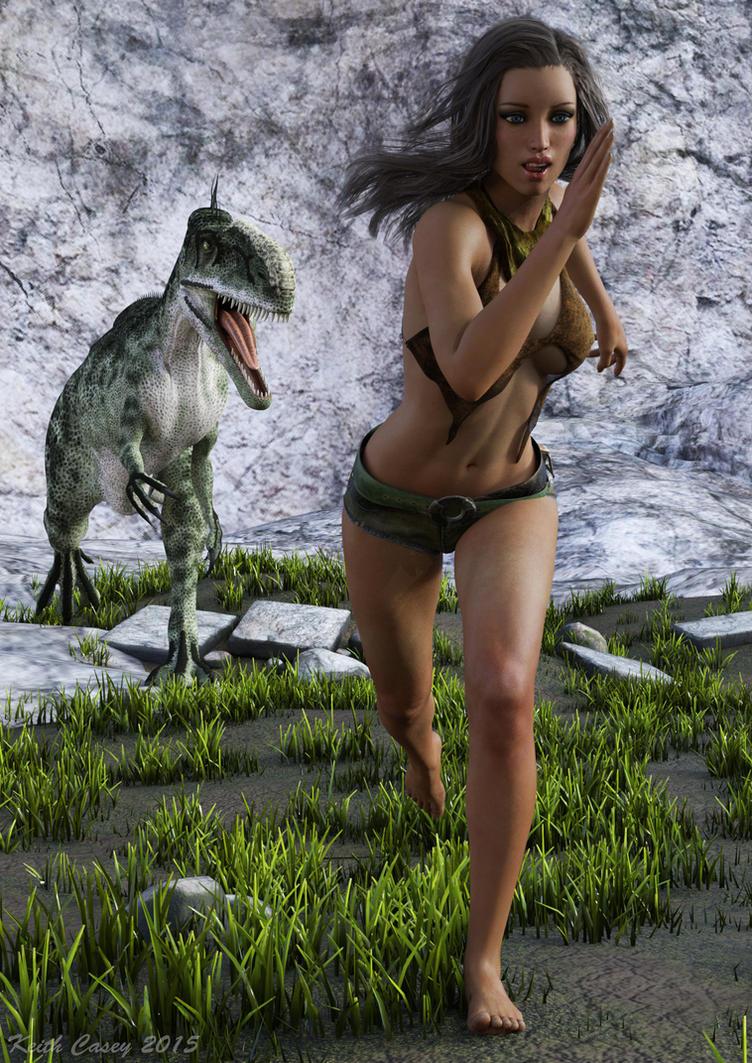 Run girl! by lizard59