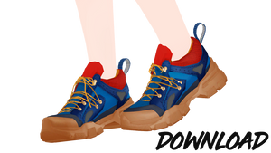 [mmd] Sneakers Flashtrek and Strap Set [DL!]