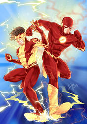Kid Flash And The Flash by onlyfuge
