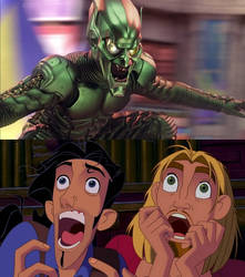 Tulio and Miguel are scared of Green Goblin