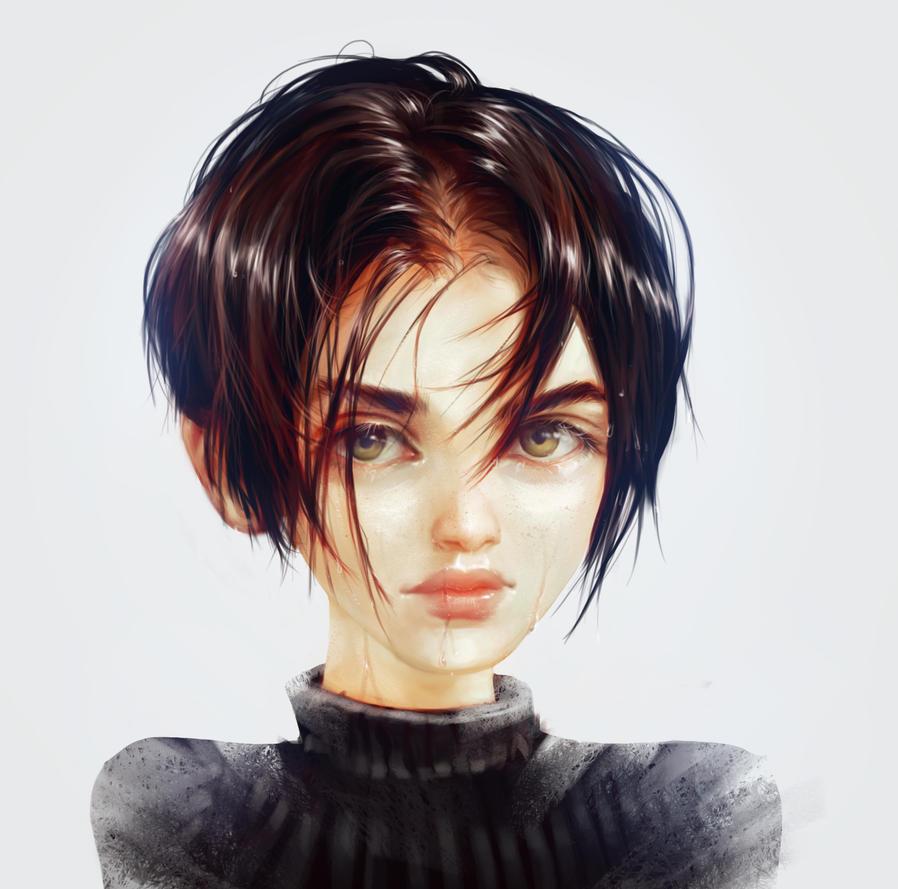 Рисунок девушек с короткими стрижками