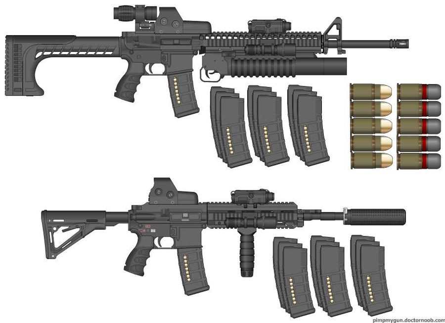My m16a4 and her m416 by tazwasha69 on deviantart - M416 wallpaper ...