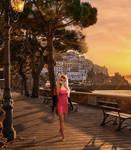 Athena @ Amalfi Waterfront Sunset by athenavixen