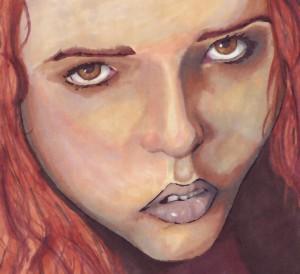 Girl from magazine by AmRunrLuvr
