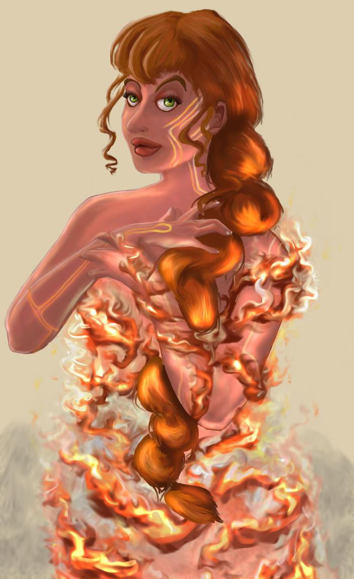 Fire Genasi by AmRunrLuvr