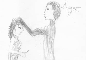 August: Ct Calcula und Miss L by RandomClaire-chan
