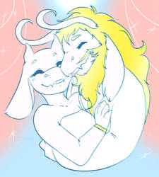 UT: Nose-Nuzzling Champions (Request) by DrGaster