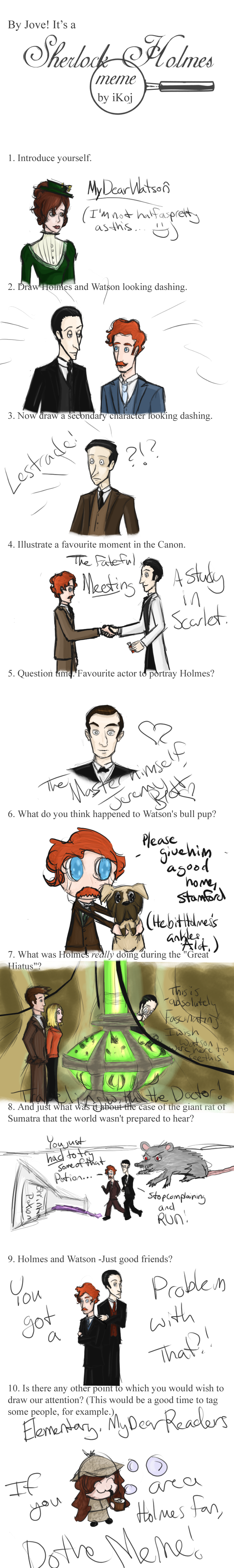 Sherlock Holmes Meme by MDW by MyDearWatson