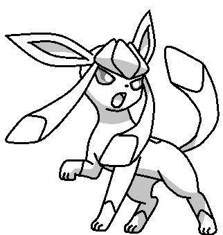 Glaceon Base by fluttershy128