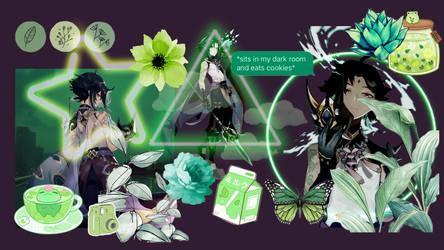 Xiao, Genshin Impact Aesthetic Wallpaper.