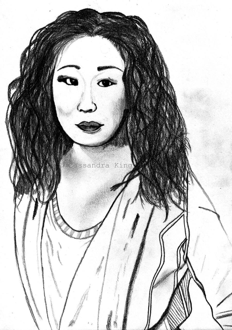 Drawing Lines Grey S Anatomy : Sandra oh grey s anatomy by clk art n designs on deviantart