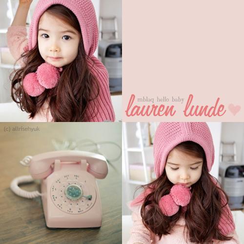 MBLAQ Hello Baby: Lauren Lunde by AllRiseHyuk