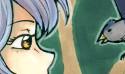 Azura et son amour des oiseaux, qui sont pt de puissants alliés ^^ Au départ je voulais faire un arbre magique derrière et puis .. non. Je le garde pour un meilleur dessin :)