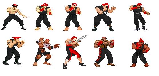 street fighter 3 pixel art