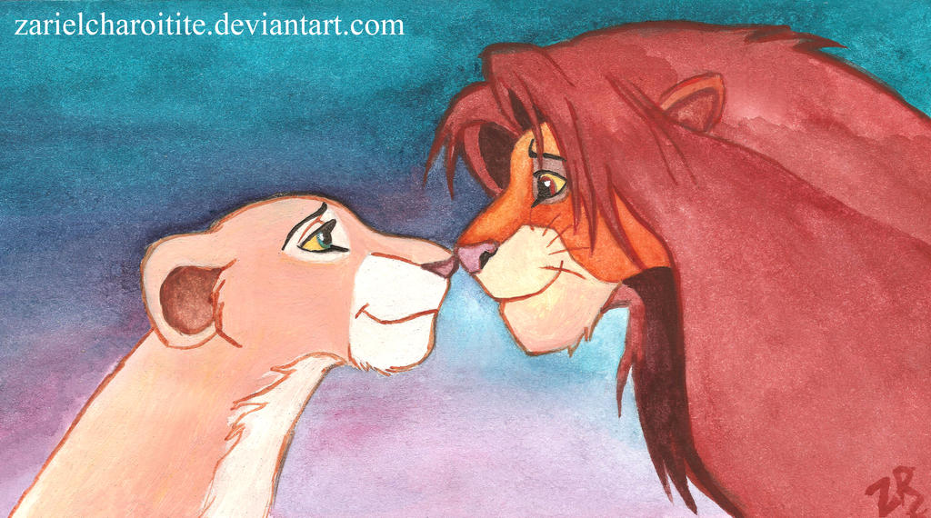 Simba and Nala by zarielcharoitite