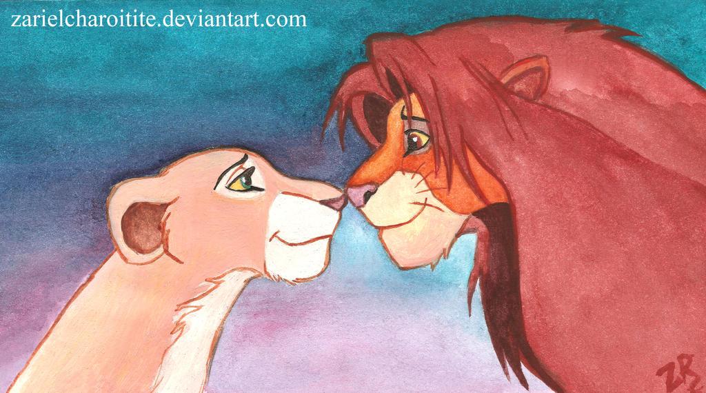 Simba and Nala by zarielcharoitite