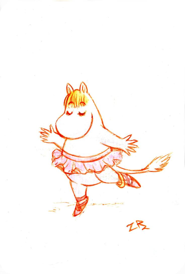 Moomin dance by zarielcharoitite