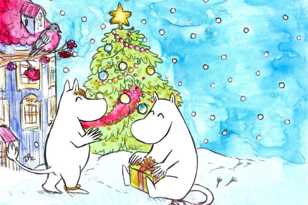 Moomin   Merry Christmas by zarielcharoitite