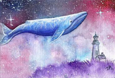 Whale  heavenly by zarielcharoitite