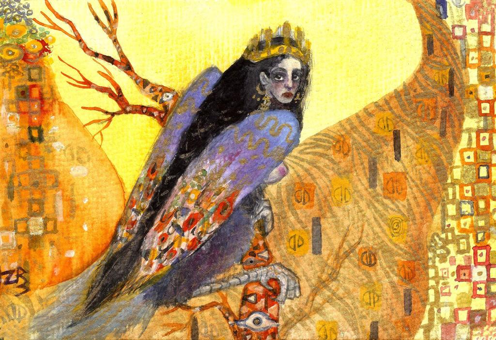 The bird Sirin by zarielcharoitite
