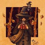 Inktober Day 02: Seasonal witch