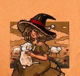 Inktober Day 05 :witch-farmer