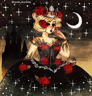 Inktober 2019 - Queen witch by zarielcharoitite
