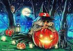 Halloween witch by zarielcharoitite
