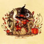 Inktober 2020 -  witch cat