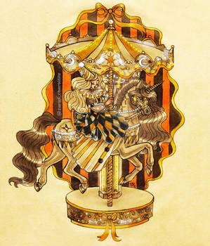 Inktober 2021 - Circus carousel