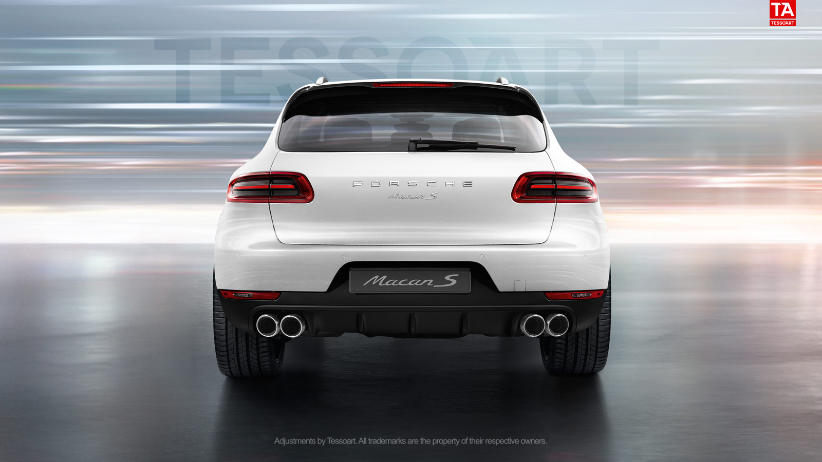 render porsche macan s in white with sportdesign wheels. Black Bedroom Furniture Sets. Home Design Ideas