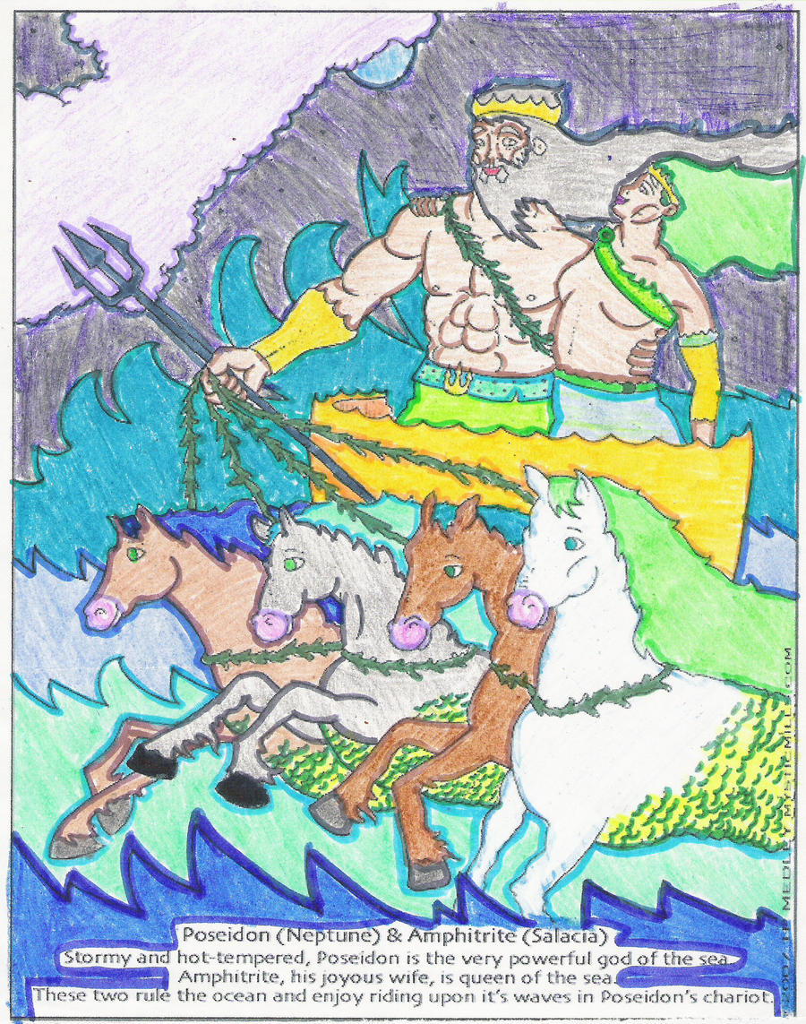 how did poseidon and amphitrite meet images