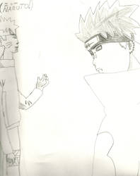 Naruto and Pain by SheanGomes