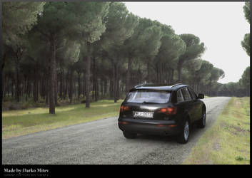 Audi q7 on the road