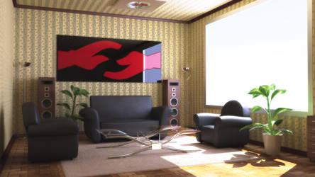 Modern interior Vray