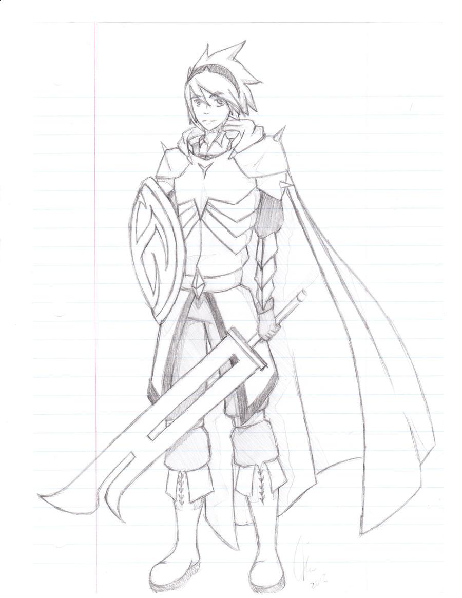 Knight in Shining Armor by Aerotyl