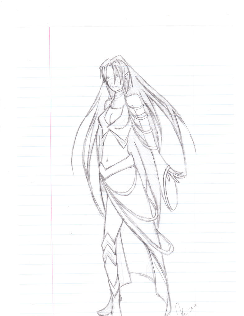 Elf lady by Aerotyl