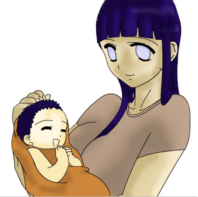 Hinata and Baby by FytesGrasp