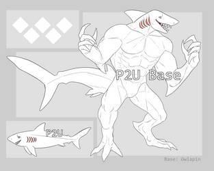 P2U Anthro Shark Ref Base by owlapin-adopts