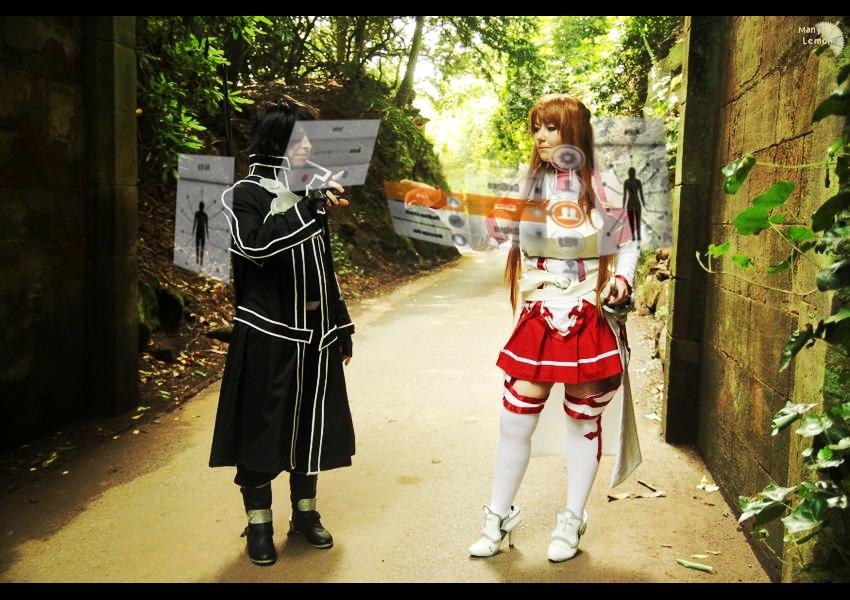 Asuna x Kirito Party by AkumaShadowCat