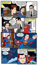 Superman Museum Comic Page Mural Done! by NathanLueth