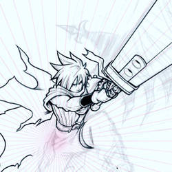KH Cloud Strife (work in progress detail)