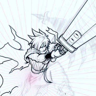 KH Cloud Strife (work in progress detail) by NathanLueth
