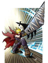 Kingdom Hearts Cloud Strife by NathanLueth