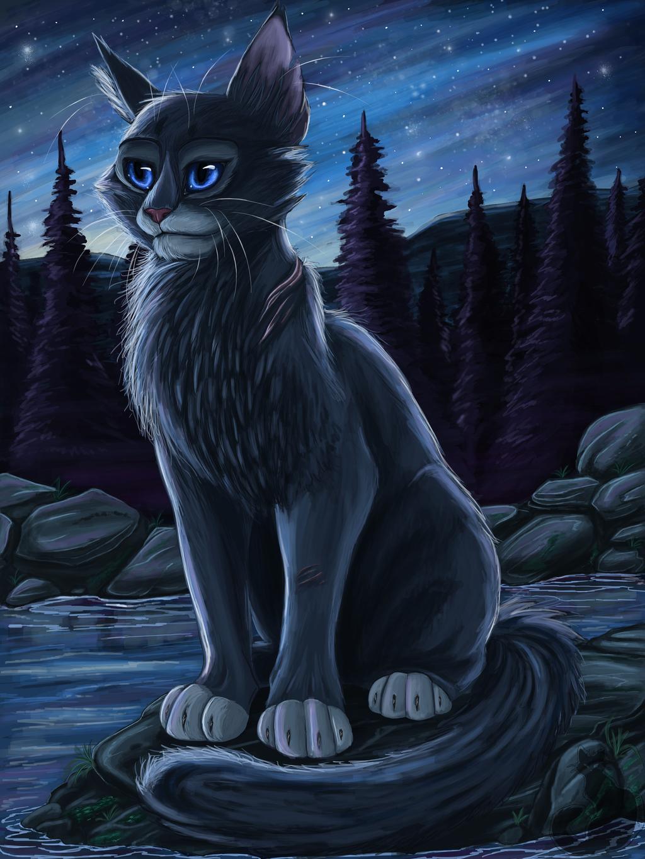 Bluestar by Blaukralle on DeviantArt Warrior Cat Drawings Bluestar
