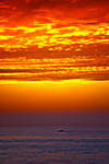 Sunset in Zandvoort, The Netherlands,