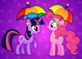 Pinkie Pie and twilight by buggzz